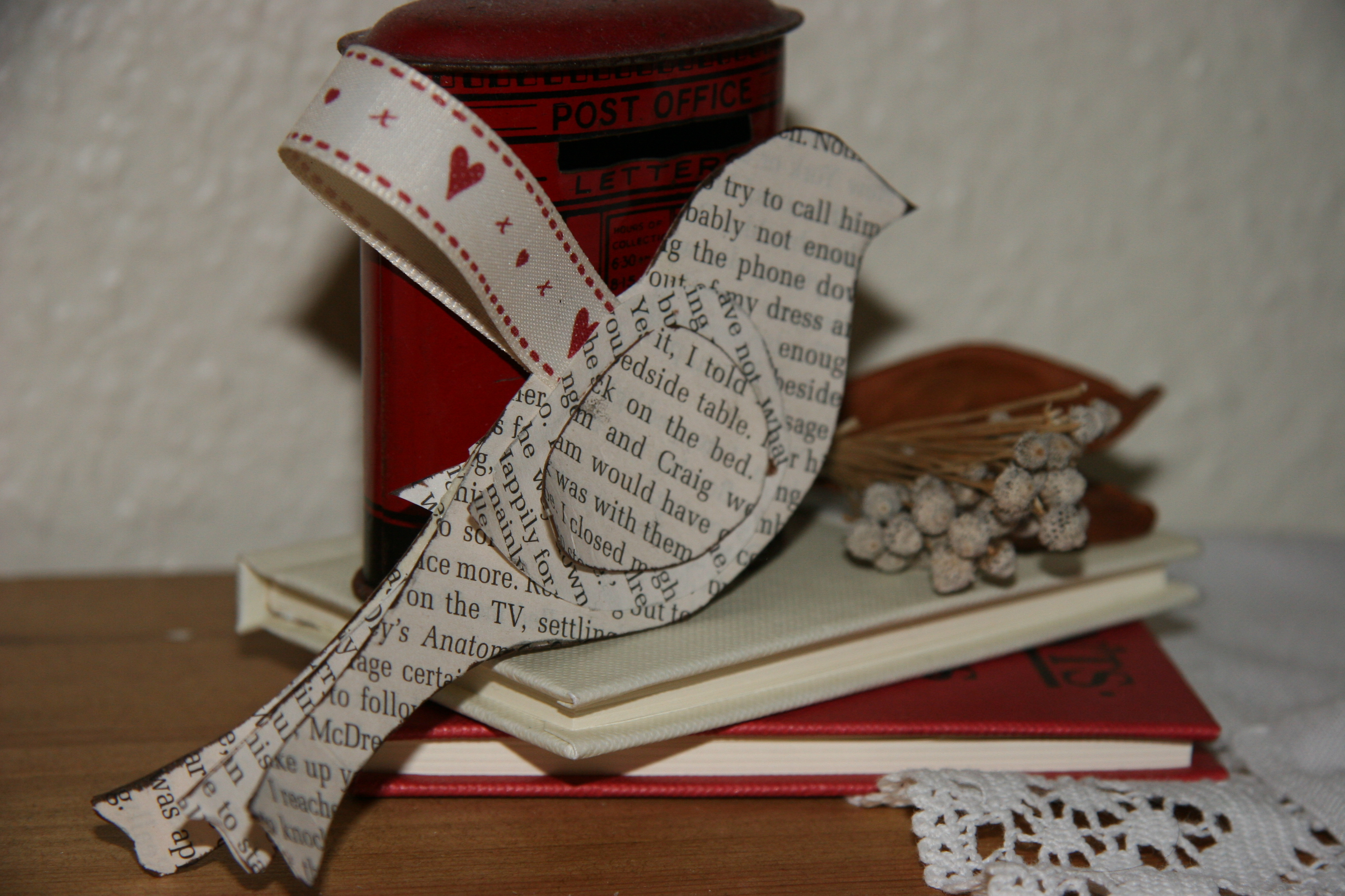 Week two of my Christmas decorations brings you a very simple bird to ...